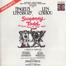SWEENEY TODD - HIGHLIGHTS - ANGELA LANSBURY / LEN CARIOU - SOUNDTRACK CD