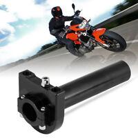 """7/8 """" 22mm Accélérateur Poignées Accélérateur pour Moto Scooter Dirt Bike Noir"""