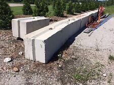 15 Concrete interlocking blocks for separating property or marking lines