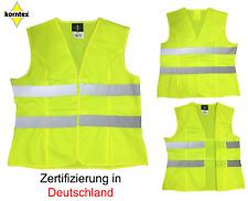 2 Warnwesten gelb  L Korntex Panne Unfallweste Sicherheitsweste Arbeitsschutz