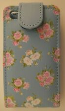 NEW UNUSED iPhone CASE POUCH 4/4S BLUE PINK FLORAL SIGNALEX