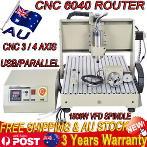 USB 3/4Axis 1.5KW VFD CNC 6040 Router Engraver Milling Cutting Machine 3D CUTTER
