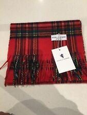 Tartan Royal Cashmere Red Stewart Bright Scarf Warm Wrap Pashmina Edinburgh New
