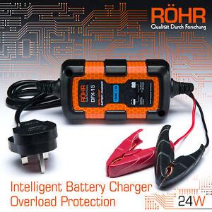 Röhr Intelligent Car Battery Charger for AGM / GEL / WET Batteries - DFX-15