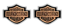 Harley-Davidson Women's Copper Bar & Shield Cameo Post Earrings HDE0261