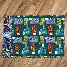 Flannel Ninja Turtles Pillowcase Single Standard Marvel Super Heros Handmade AQ