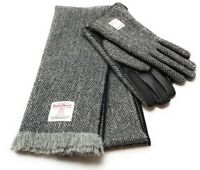 Gents Black Leather /& Harris Tweed Gloves Boxed In Charcoal LB3012-COL1
