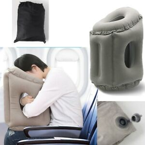 Portable Inflatable Travel Pillow Airplane Cushion Office Flight Neck Head Rest