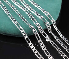 1Pcs 925 Sterling Silver Plated 24 Inch 2MM Chain Figaro Fashion Jewelry Necklac