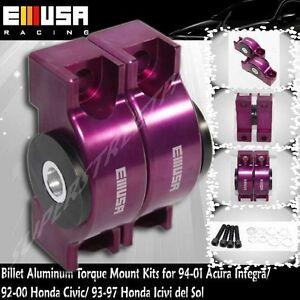 EMUSA Engine Torque Mount Kit fit 94-01 Acura Integra Purple