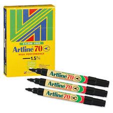 ARTLINE 70 PERMANENT MARKER BULLET TIP PEN // BLACK INK // 12 PACK / A701