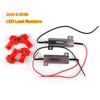 2x 50W 6OHM LED Bulb Load Resistor Turn Signal Stop Light Error Flash Canceller