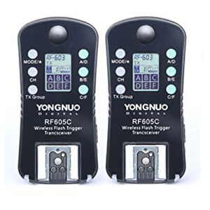 YONGNUO RF605C RF605 RF-605 Flash Trigger Strobe Trigger with LCD for Canon Cord