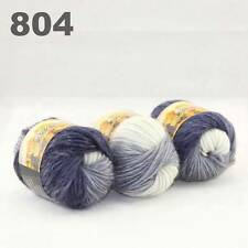 SALE 3x50gr Skeins NEW Chunky Hand-woven Colorful Knitting Scores Wool Yarn 804