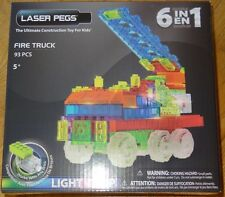 Fire Truck Zippy Do Laser Pegs Lighted construction building Toy ZD180B