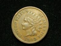 2021 SALE!! AU 1883 INDIAN HEAD CENT PENNY w/ DIAMONDS & FULL LIBERTY #48w