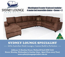 AUSTRALIAN MADE Washington 8 seater 4 pieces Modular Corner Suite Lounge