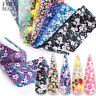 16Pcs Mix Flowers Nail Sticker Nail Art Foils Transfer Holographic Starry Decal