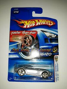 Hot Wheels Ford Shelby GR-1 Concept. Faster Than Ever Series. 2005 Mattel (P-28)