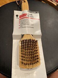 Vintage Weber Grill Brush 1644 With Hardwood Handle NEW !!