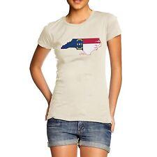 Twisted ENVY mujeres bandera del estado de Carolina del Norte EE. UU. Algodón Premium T-Shirt