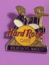 Hard Rock Cafe 1990s Blue Drum Set Pin BUENOS AIRES