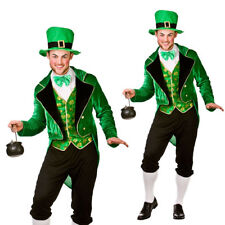 Mens Deluxe Leprechaun Irish St Patricks Day Fancy Dress Costume Adult Outfit Medium