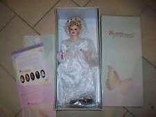 "2000 Butterfly Kisses 19"" Blonde PORCELAIN Bride DOLL #5"