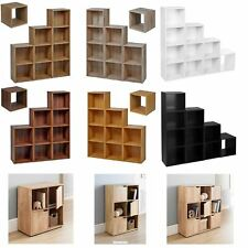New Cube 2 3 4 Tier Wooden Bookcase Bookshelf Storage Shelf Unit Display Stand
