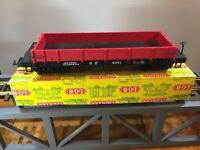 LGB 4061 D&RGW Low-Sided Gondola VINTAGE YELLOW LGB FACTORY BOX