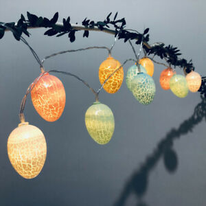 Easter Led Light Garland Rabbit Eggs Shape String Lights Home Outdoor Decoration