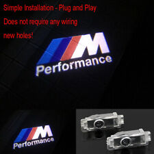 2X BMW CREE LED Projector Door Lights M Performance Courtesy Laser Lamp For BMW
