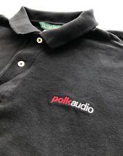 Rare POLK AUDIO Men's size L Slim Fit Polo Shirt Baltimore Maryland Speaker Co.