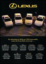 1994 Lexus LS400 ES300 SC400 GS400 Original Advertisement Print Art Car Ad J434