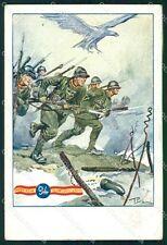 Militari Reggimentali 94º Reggimento Fanteria Pisani PIEGHINA cartolina XF5709