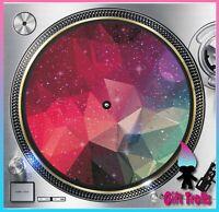 "Geometric Galaxy #6 Turntable Slipmat 12"" LP Record Player, DJ Space Orbit"