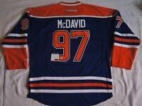 Connor McDavid Autogramm Signed NHL Edmonton Oilers Reebok Jersey Sz 52  PSA COA