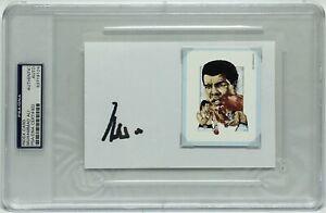 Muhammad Ali Signed 4x6 Index Card *Cassius Clay *Boxing Legend PSA 83719124