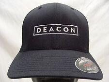 DEACON - NAVY BLUE - S/M SIZE FLEXFIT BALL CAP HAT!