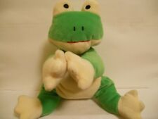 Ty Pillow Pal Green and Yellow Frog 14 Inch Stuffed Toy (No Tags At All)
