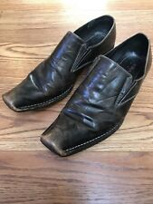 Robert Wayne Crue Loafers Men Size US 13 EUR 47.5 Brown Distressed Leather Shoes