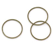 100 Anneaux de jonction Fermés Couleur Bronze 20mm Dia.