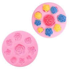 3D Rose Flower Cookies Biscuit Mould Silicone Chocolate Fondant Baking Mold