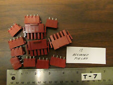 15 Assorted Male And Female Power Connectors Dark Red NOS
