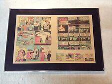 Little Orphan Annie Orig. Newspaper Comic Strip 1942 Atlanta Journal Framed BNT