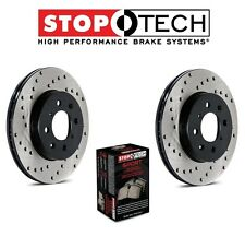 Toyota RAV 4 Set of Front StopTech Drilled Brake Rotors and Sport Brake Pads