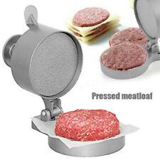 Burger Press Hamburger Patty Maker Mold Meat Aluminum Non-Stick Kitchen BBQ .~