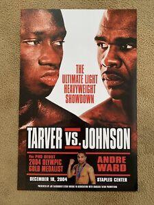 Andre Ward 2004 Pro Debut Poster On Antonio Tarver vs Glen Johnson Show; 22x34