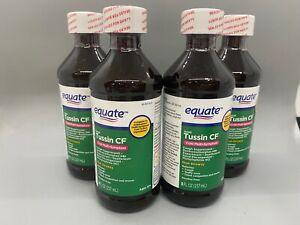 Equate Adult Tussin CF Cold Multi-Symptom 8oz 4PK Exp 12/21