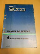 SAAB 9000 manuel de service boite de vitesses manuelle 1985